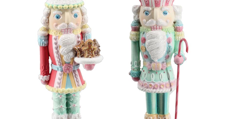 Set of 6 Sweet Shoppe Decorated Nutcracker Ornaments