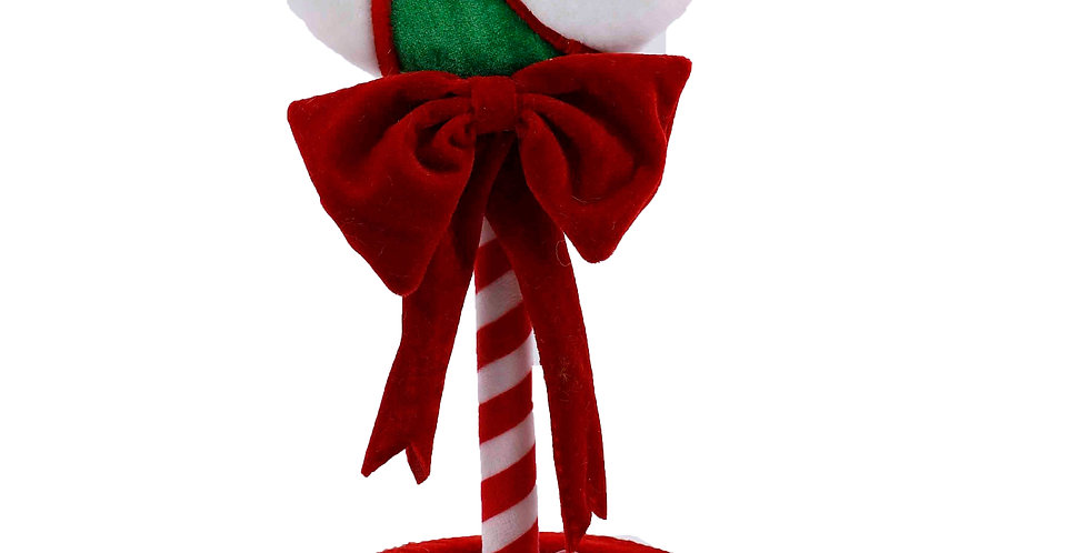 19 Inch Green/White Peppermint Candy Tree