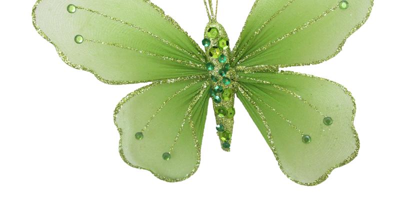 Set of 12 Green Butterflies Decor