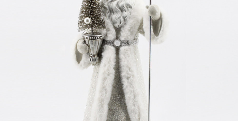 Jeweled Santa with Staff and Tree