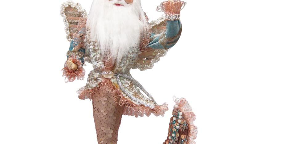 Sequined Pink Santa Merman Fairy Hanging Decor