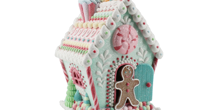 LED Lighted Cookie House