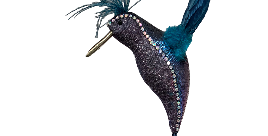 Rhinestone Trimmed  Hummingbird Decor