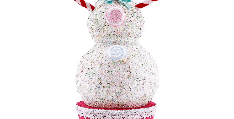 Candy Snowman Cupcake Decor