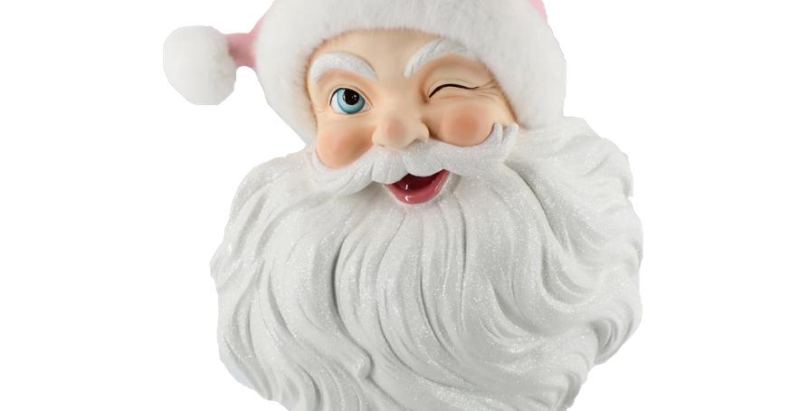 Santa Head with Pink Santa Hat