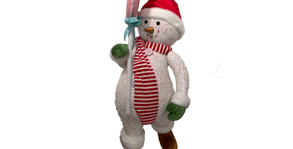 Large Candy Snowman with Peppermint