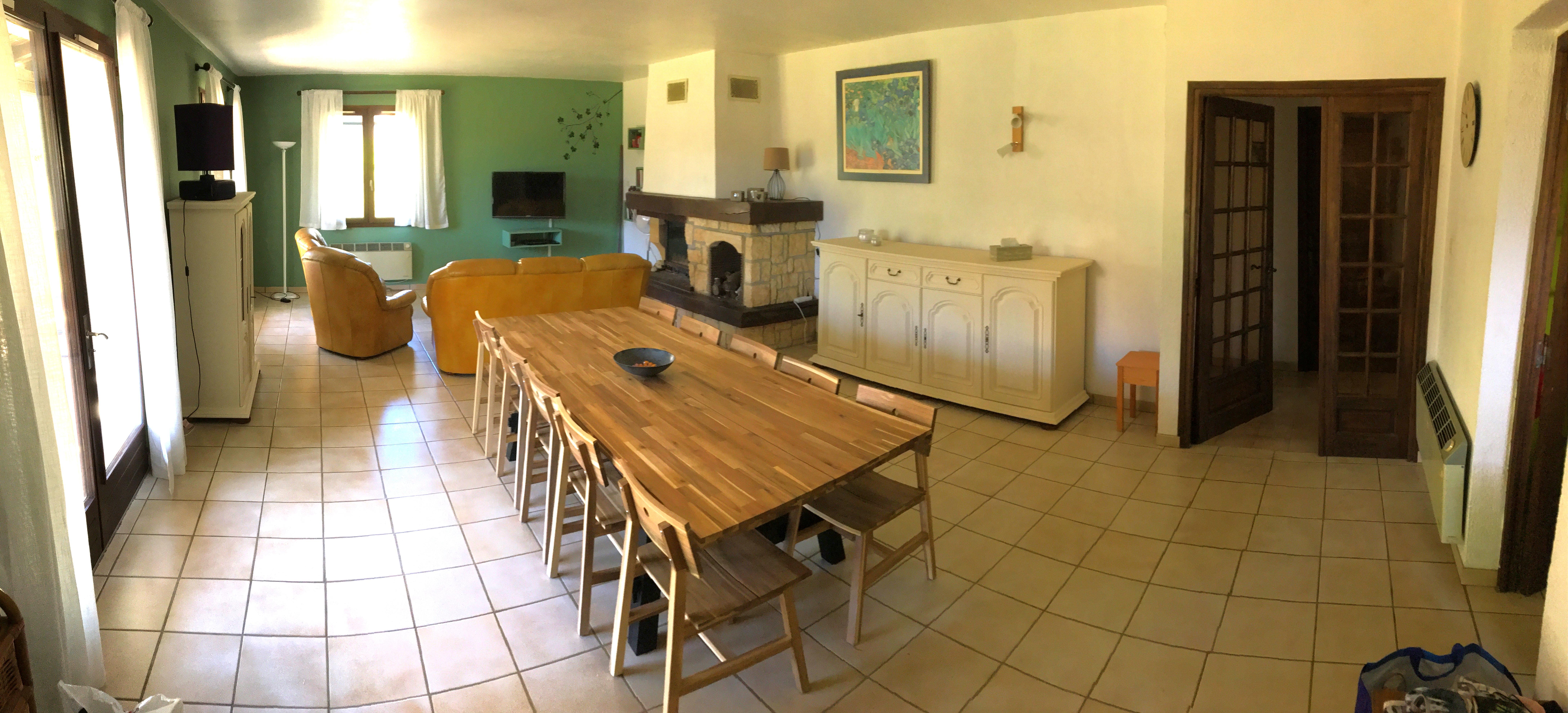 Le salon et la salle à manger