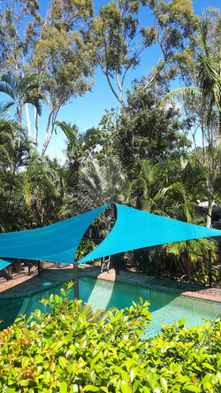 Backyard Pool Multi Sails