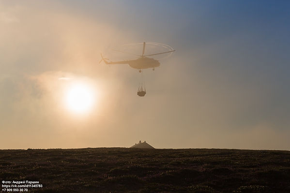 Вертолет над Марре-Сале