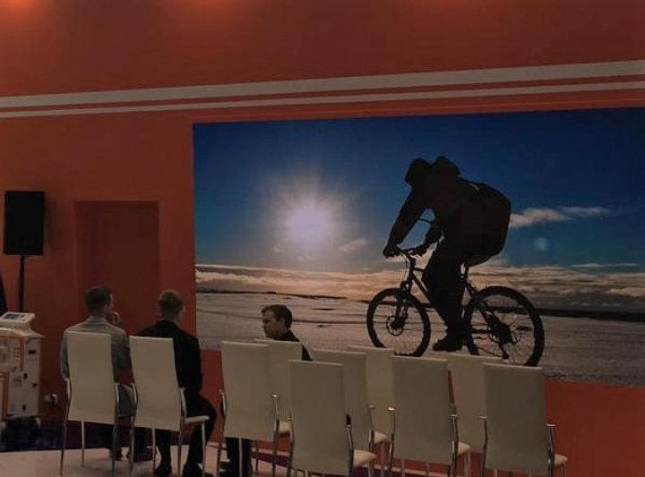 Фото Арктики на стенде министерства обра