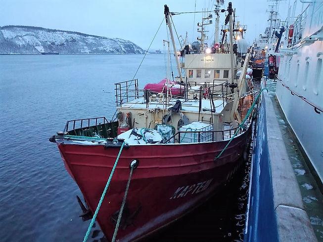 Картеш в порту Мурманска 11 января 2019.