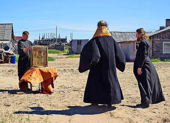 Владыка Иаков освятил место строительства часовни в Шойне