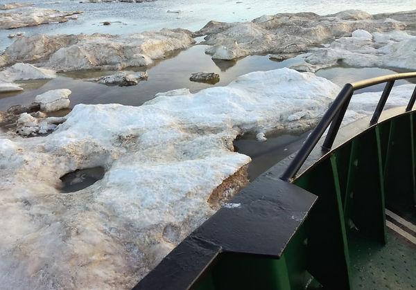 Ледовая обстановка в Печорском море июль 2018