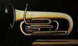 Tuba. Из серии Music.Levitation  50_85 см холст_масло 2016 г_