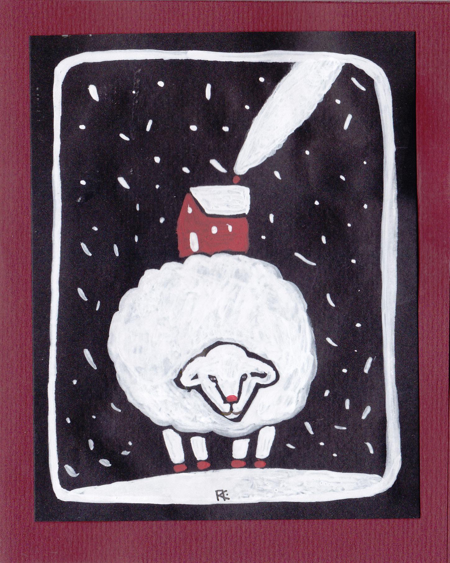 зимняя открыточка
