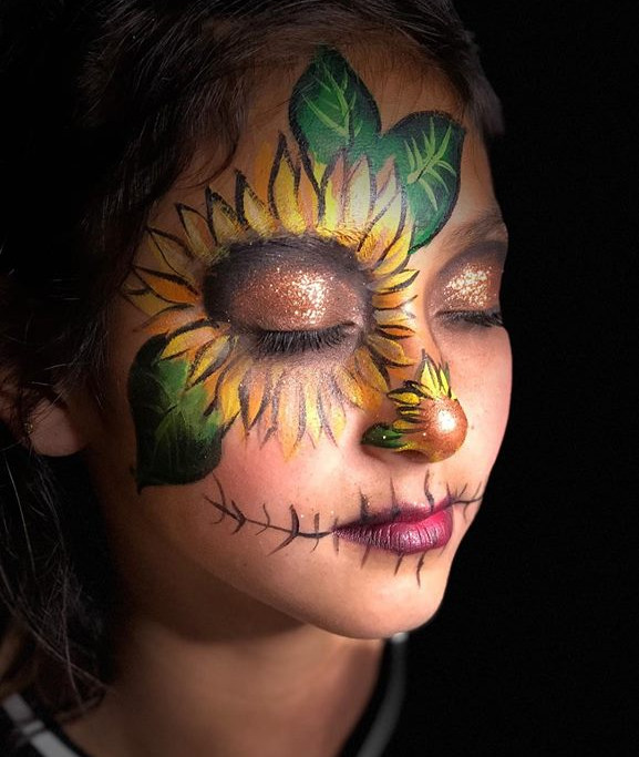 sunflower face painting