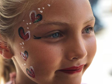 heart face painting