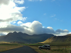 Iceland Landscape with car (2)
