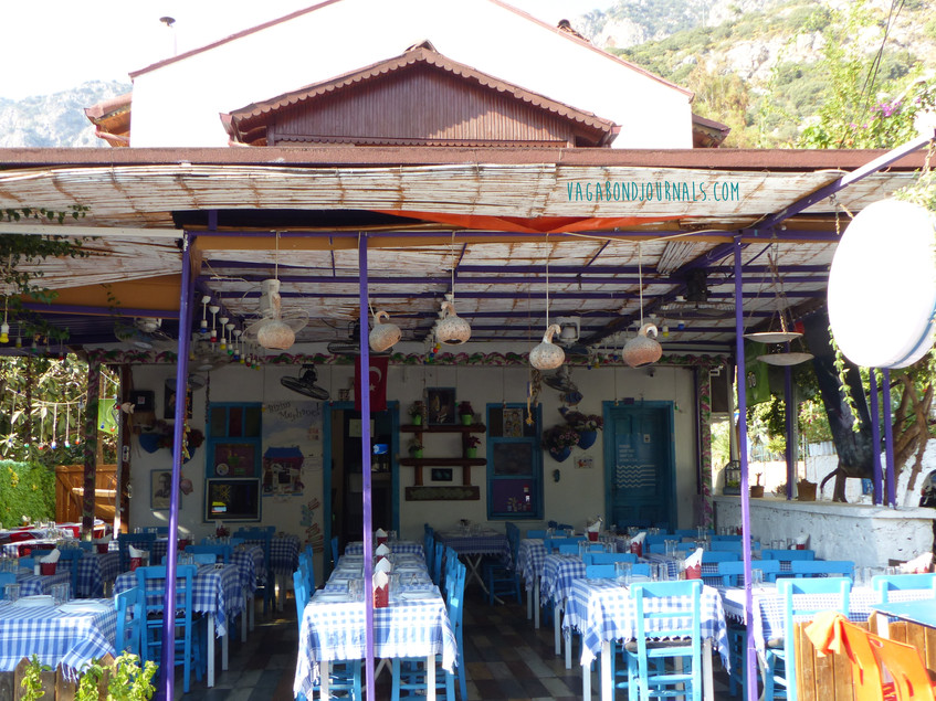 kas cafe blue and white - Vagabond Journ