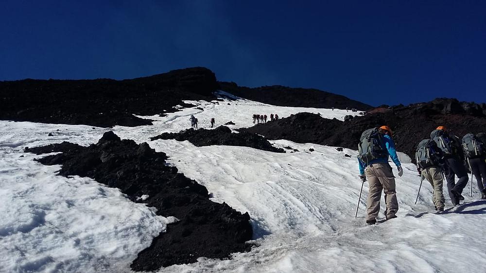 Hiking on the ice, Villarrica Volcano - Vagabond Journals