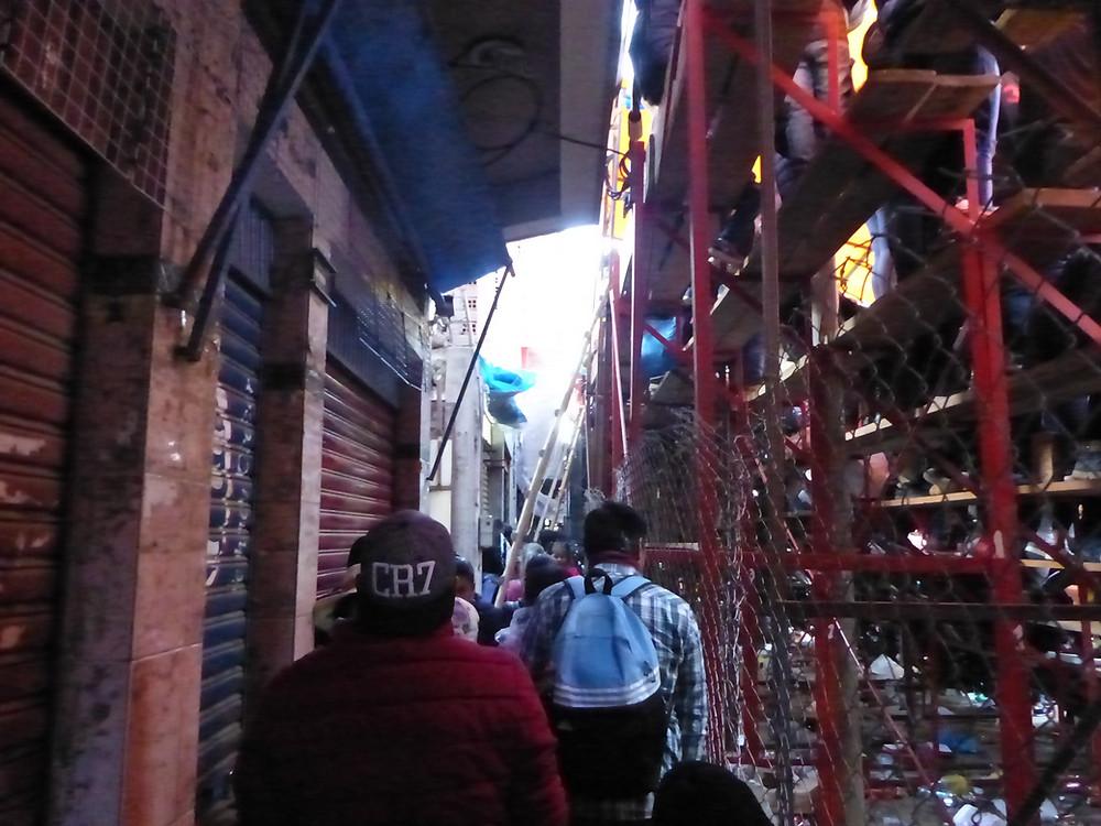 Behind the bleachers, Oruro Carnaval - Vagabond Journals