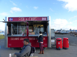 Fish and Chips cart in Reykjavic