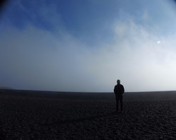 hvalnes black pebble beach