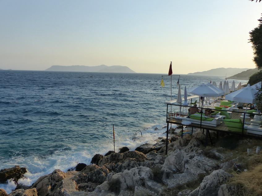 Swimming in Kas, Turkey - Vagabond Journ
