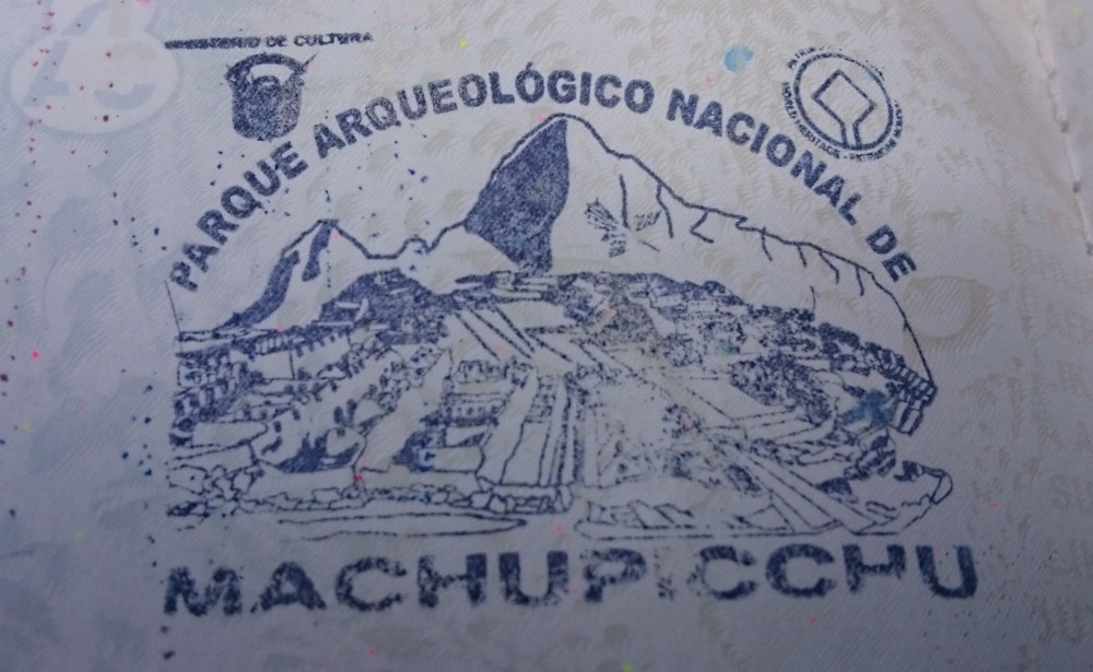 Machu Picchu Passport Stamp - Vagabond Journals
