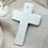Thumbnail: Croix en porcelaine                          Imprimé végétal