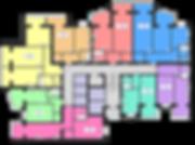 Плануванн квартир 2 Секція