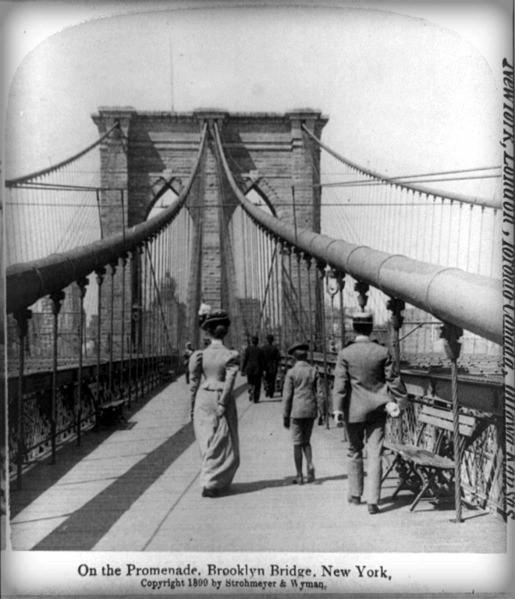 El puente de Brooklyn en 1900