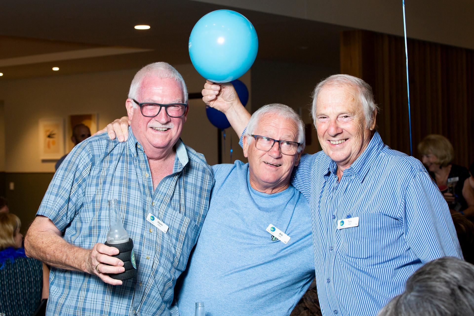 Wayne Greaves, Bob Slade and Tony Eppell