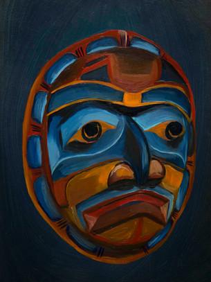 Red Kwakiutl Mask (sold)