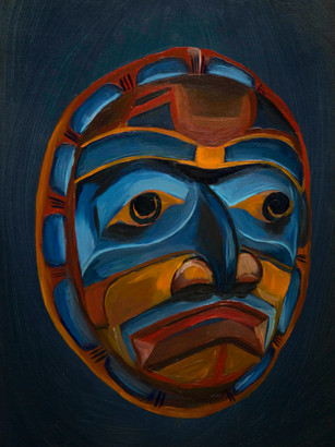 Red Kwakiutl Mask (sold)