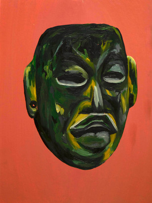 Olmec Greenstone Mask