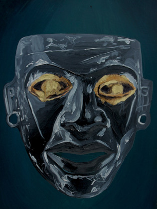 Black Teotihuacan Mask (sold)