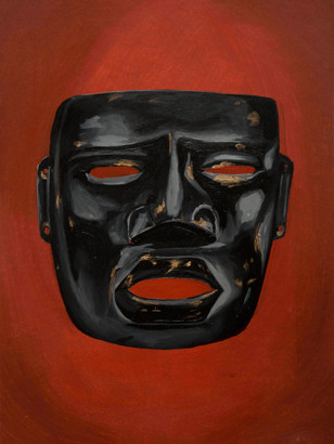 Black Olmec Mask (sold)