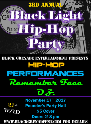 3rd Annual Black Light Hip-Hop Party