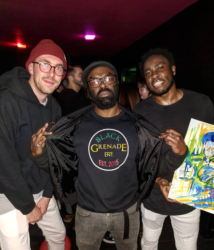 Big Respects to @remember.face my favorite duo. #newalbum #Vizard #blackgrenadeentertainment #inthefrontrow #seattlemusic #experimental #hiphop #livemusic #artistlife