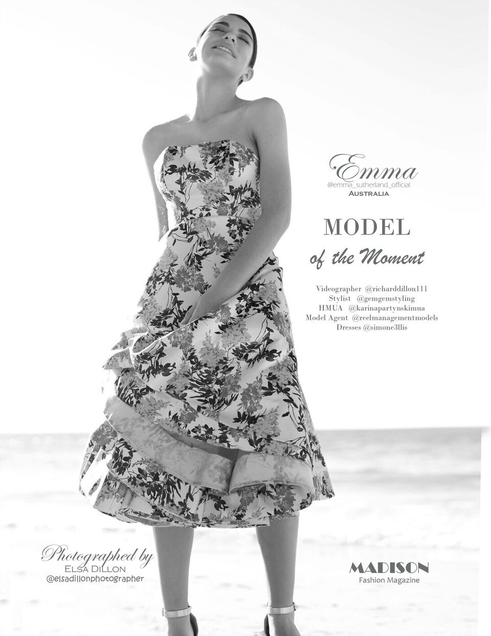 Emma Sutherland; reel management model; MADISON magazine; Elsa Dillon photographer