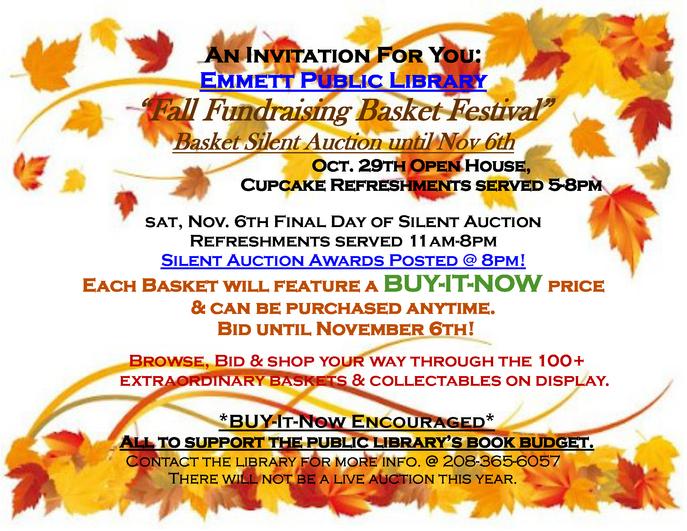 Fall Fundraising Basket Festival, October 29, 2021