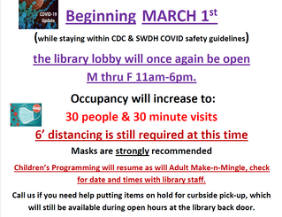 COVID-19 Guidelines Update March 2021
