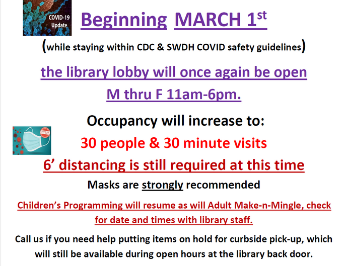 Copy of COVID-19 Guidelines Update March 2021