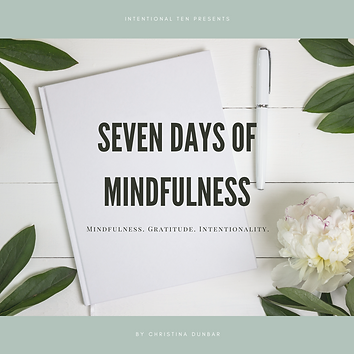 Copy of COVER Seven Days of Mindfulness