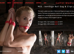 Red - in the dungeon with clips and ball gag