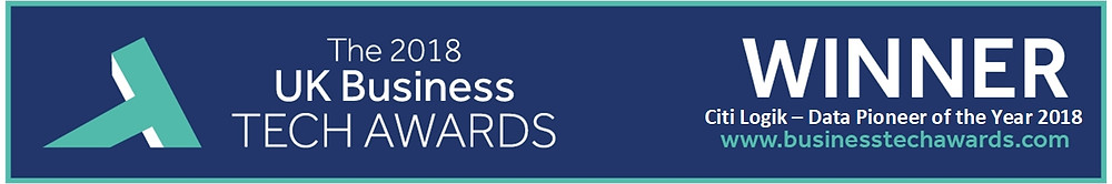 Citi Logik win Data Pioneer award in the UK Business Tech Awards