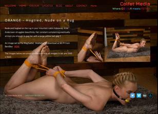 Orange - Hogtied Nude on a Rug