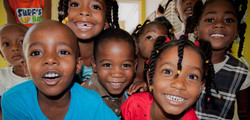 Children from the Nutrition Center