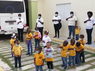 Nutrition Center children back to Center
